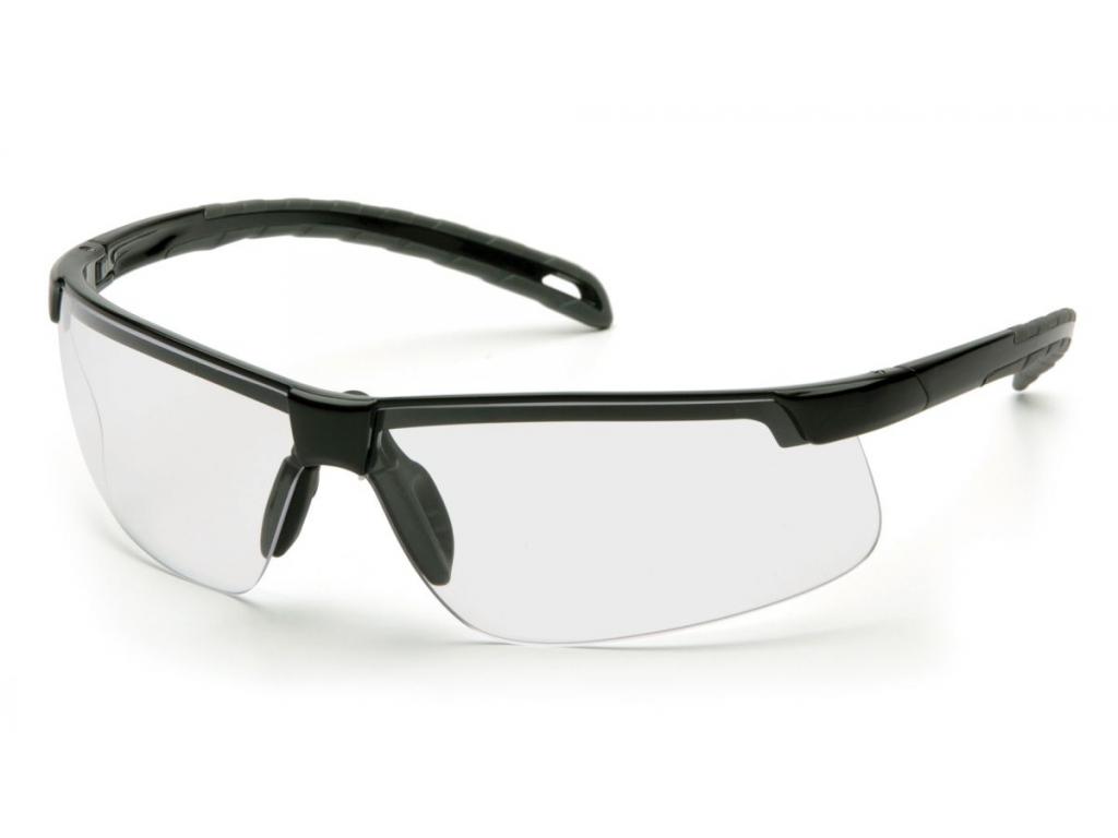 Ever-Lite ESB8610DTM, ochranné brýle, nemlživé, černá obruba, čiré