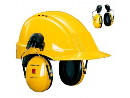 peltor optime i earmuff p3 helmet attachment