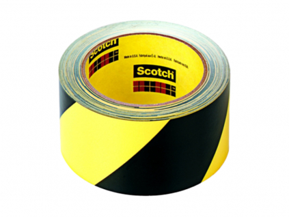 5702 bezpečnostní šrafovaná páska 3M, žluto-černá, 50mmx33m s extrémní odolností