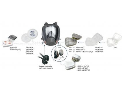 celooblicejova maska rady 6000 3m 6800 (1)