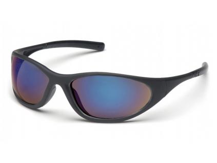 Zone II ESB3375E, ochranné brýle, zrcadlové, černé stranice a obroučky, modré