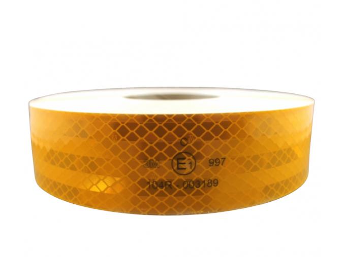 Reflexní páska na plachty 3M Diamond Grade 997.71 žlutá ohebná, šíře 50 mm, cena za 1 metr