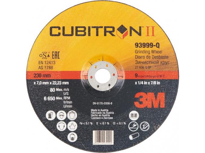 93999-Q brusný kotouč Cubitron II 3M 230x7x22mm, 6650 ot/min, 1875423