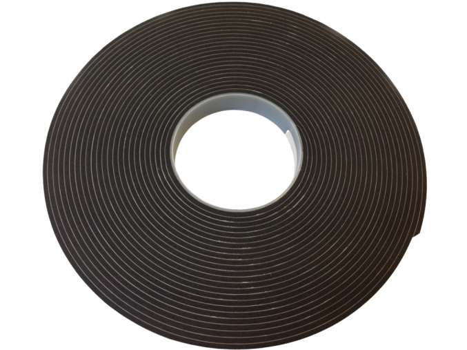 AD 4418 samolepící pryž, černá, návin 25 m, tloušťka 3 mm