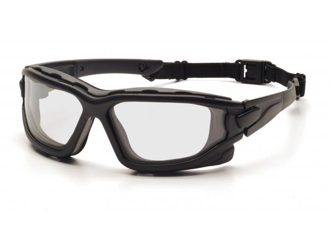I-Force ESB7010SDT, ochranné brýle, nemlživé, černá obruba, čiré