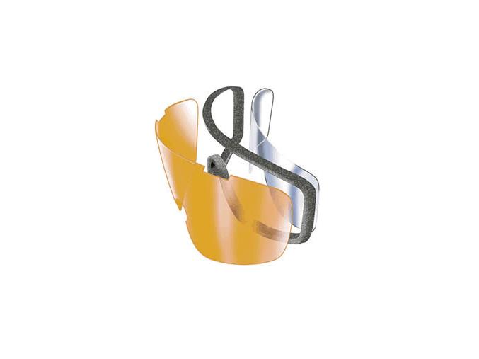 Capstone EG504DT, ochranné brýle, průsvitně šedá obruba, dvojitý čirý zorník, nemlživé