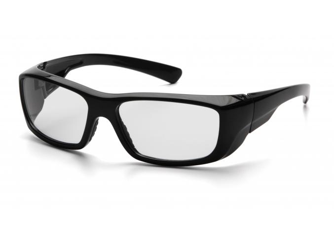 Emerge ESB7910DRX, ochranné brýle, černá obruba, čiré