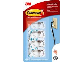 17301clr cee command transparent medium cord clips