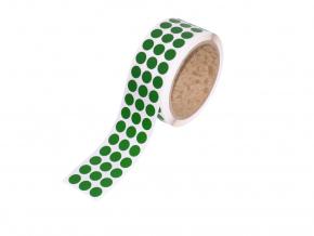Logistická samolepicí kolečka z pásky 3M 764i, ? 11 mm, balení 3000 ks, zelená