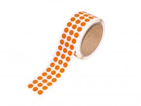Logistická samolepicí kolečka z pásky 3M 764i, ? 11 mm, balení 3000 ks, oranžová