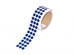 Logistická samolepicí kolečka z pásky 3M 764i, ? 11 mm, balení 3000 ks, modré