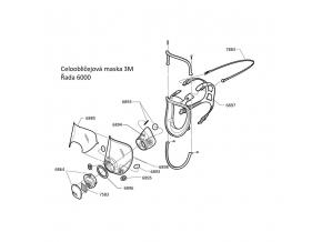 6700 SMALL 3M celoobličejová maska pro dva ochranné filtry, pro opakované použití, malá velikost
