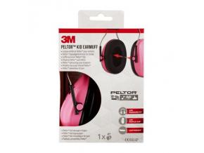 Peltor Kid dětská sluchátka 3M, růžová, SNR 27 dB lehká ochranná sluchátka pro děti
