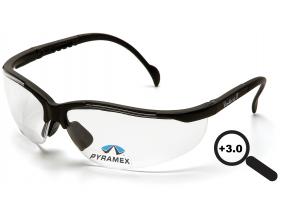 Venture II Readers ESB1810R30, + 3.0 dioptrie, ochranné brýle, čiré