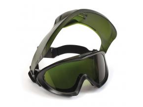 Capstone Shield EGG504TSHIELDIR3, zelený nemlživý zorník s 3.0 IR filtrem + obličejový štít