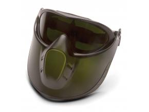 Capstone Shield EGG504TSHIELDIR5, zelený nemlživý zorník s 5.0 IR filtrem + obličejový štít