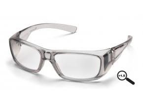 Emerge ESG7910D15, ochranné brýle + 1.5 dioptrie, průsvitně šedá obruba, čiré