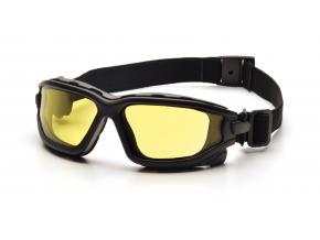 I-Force Slim ESB7030SDNT, ochranné brýle, nemlživé, černá obruba, jasně žluté