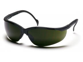 Venture II ESB1860SF, svářečské ochranné brýle, 3.0 IR filtr, černé obruby, tmavě zelené