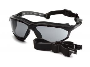 Isotope EGB9420STM, ochranné brýle, nemlživé, černá obruba, šedé