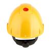 Přilba 3M G3000NUV-GU Žlutá přilba s ventilací, plastové potítko, kolečko