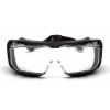 Cappture ES9910STMRG, ochranné brýle, čiré brýle s gumovým těsněním, nemlživé