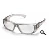Emerge ESG7910D20, ochranné brýle + 2.0 dioptrie, průsvitně šedá obruba, čiré