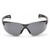 Pmxslim ESB7120S, ochranné brýle, černá obruba, šedé