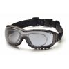 V3G EGB8220STRX, ochranné brýle s možnostní instalace dioptrické vložky, nemlživé, šedé