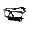 Isotope EGB9410STM, ochranné brýle, nemlživé, černá obruba, čiré